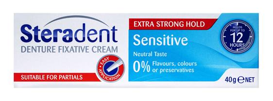 Steradent Denture Sensitive Fixative Cream 40g