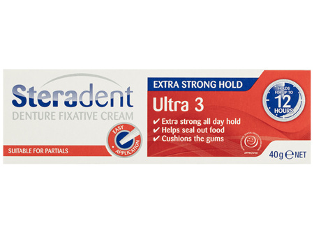 Steradent Ultra 3 Denture Fixative Cream 40g