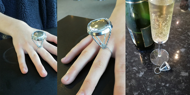 Steve's 'Pop the Champagne, Pop the Question' ring: