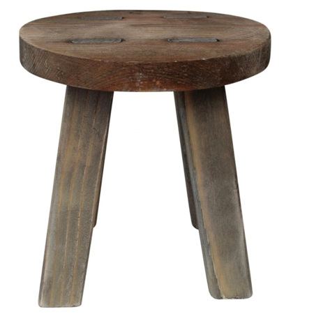 Stool Rustic Round Mini