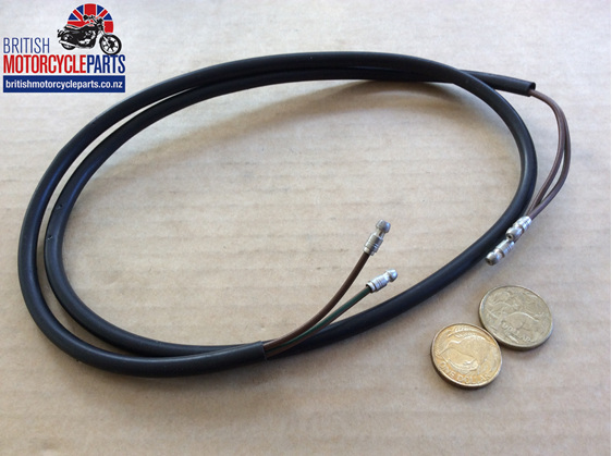 """Stop & Tail Wire 42"""" Long - 2 Wires - British Motorcycle Parts Ltd - Auckland NZ"""