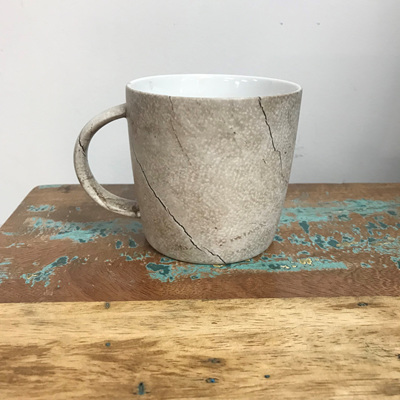 Straight Side Mug - Bleached Wood