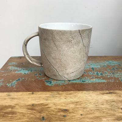 Straight Side Mug - Bleached Wood