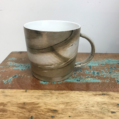 Straight Side Mug - Natural Wood