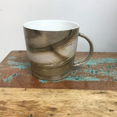 Straight Side Mug - Natural Wood