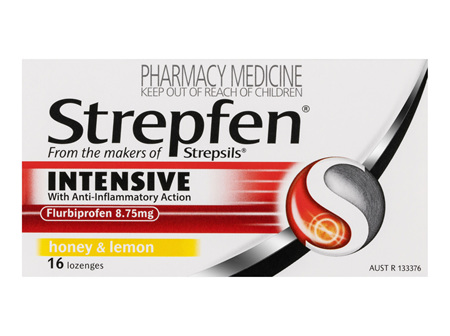 Strepfen Intensive Lozenges Honey & Lemon 16 Pack
