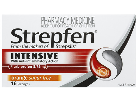 Strepfen Intensive Lozenges Orange 16 Pack