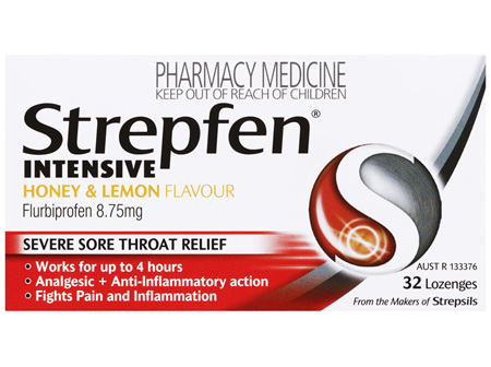 Strepfen Intensive Severe Sore Throat Relief Anti-Inflammatory and Analgesic Lozenges 32pk