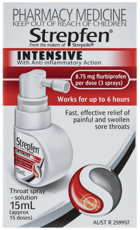 Strepfen Intensive Throat Spray with Anti Inflammatory Action 15mL