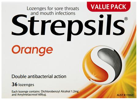 Strepsils Orange 36 Lozenges