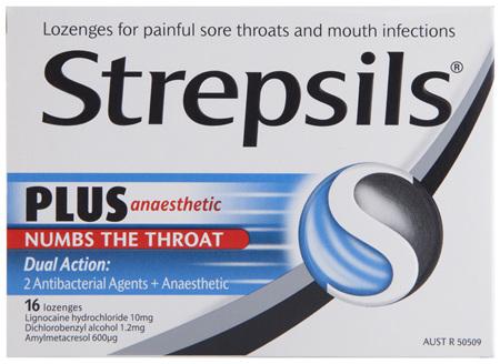 Strepsils Plus Anaesthetic Lozenges 16 Pack