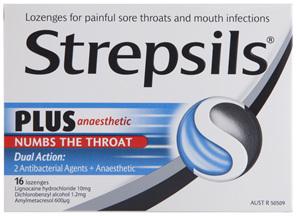 Strepsils Plus Anaesthetic Sore Throat Lozenges 16 Pack