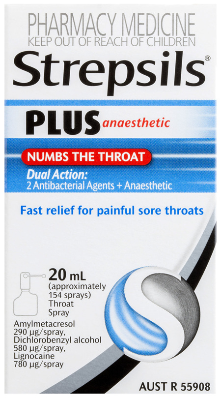 Strepsils Plus Anaesthetic Sore Throat Numbing Pain Relief Spray