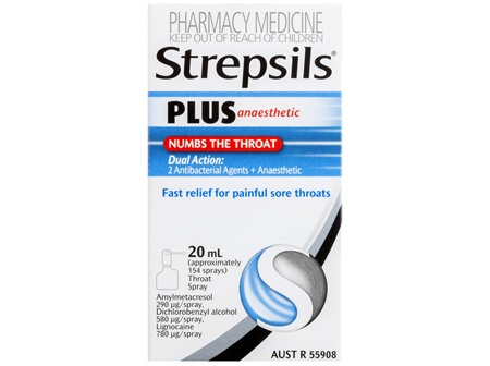 Strepsils Plus Anaesthetic Sore Throat Numbing Pain Relief Spray