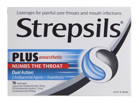 Strepsils Plus Sore Throat Lozenges Pain Relief Numbing 16 Pack