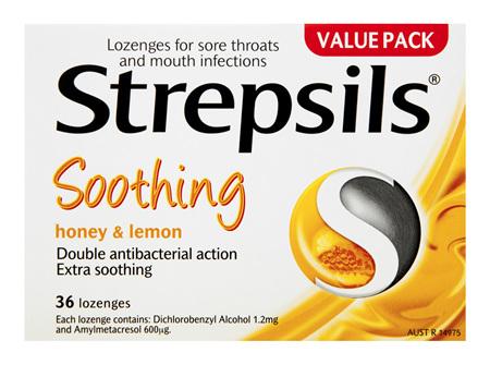 Strepsils Soothing Honey and Lemon 36 Lozenges