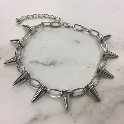 Studded Spike Necklace - Silver WAS $21.90