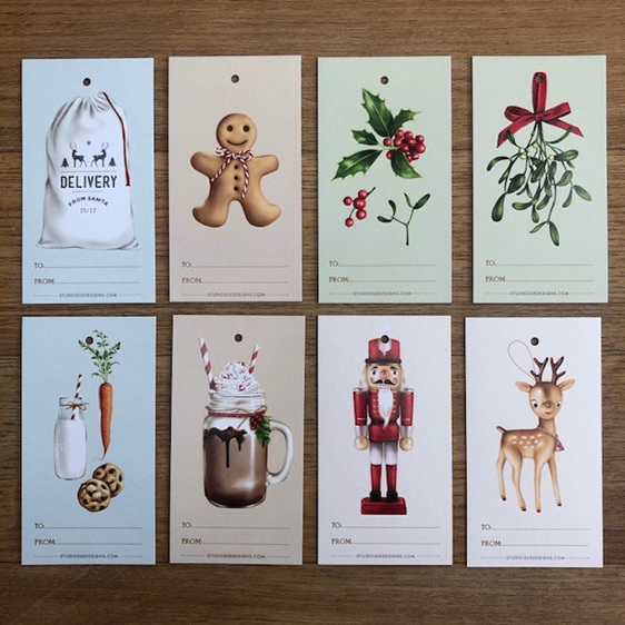 Studio Sue Christmas Tags