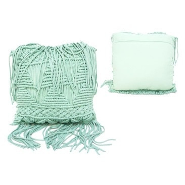 Su Macrame Cushion - Turquoise