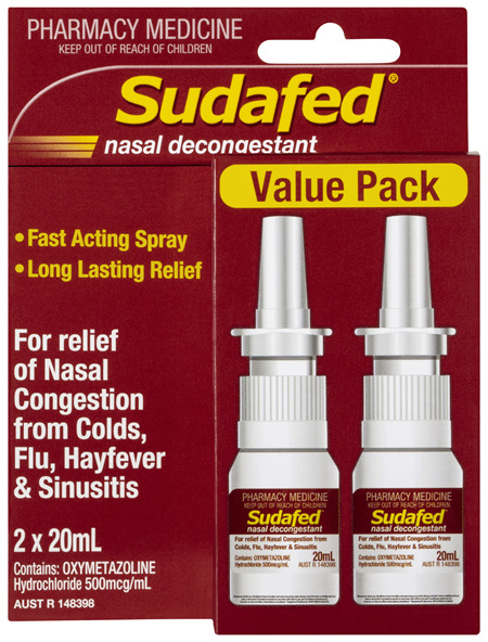 Sudafed® Nasal Decongestant 2 x 20mL