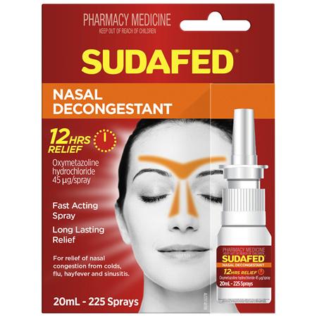 Sudafed Nasal Decongestant 20mL
