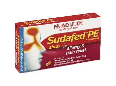 Sudafed PE Allergy & Pain Relief