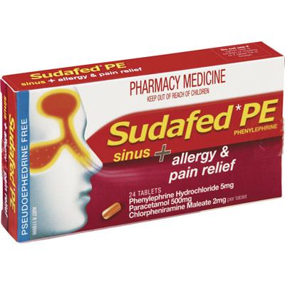 Sudafed PE Allergy & Pain Relief