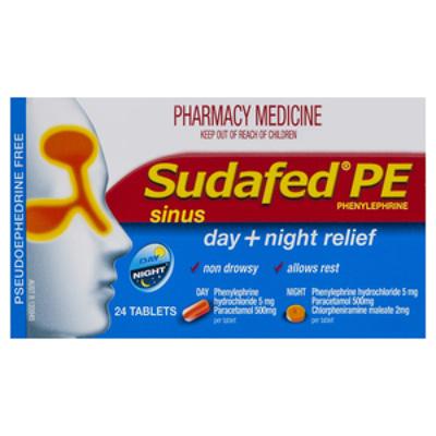 Sudafed PE Day&Night 24
