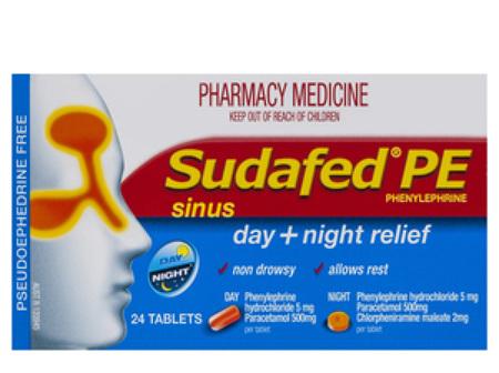 Sudafed PE Day/Night Sinus Relief 24