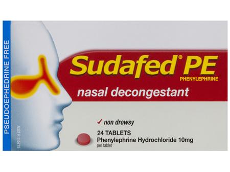 SUDAFED PE Nasal Decongest. 10mg 24