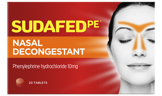 Sudafed PE Nasal Decongestant 20 Tablets x 10mg