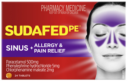Sudafed PE Sinus + Allergy & Pain Relief 24 Tablets