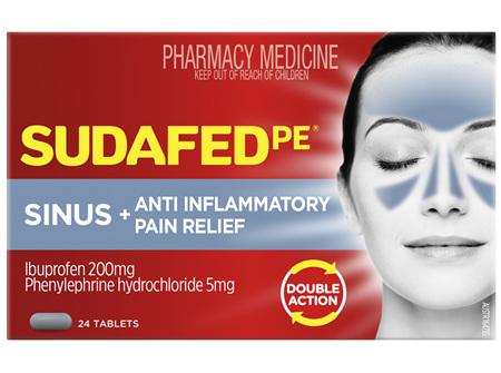 Sudafed PE Sinus + Anti-Inflammatory Pain Relief 24 Tablets