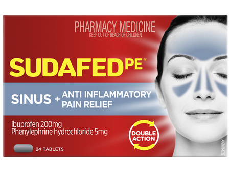 Sudafed PE Sinus + Anti-Inflammatory Pain Relief 24 Tablets