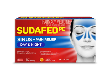 Sudafed PE Sinus Day + Night Relief Tablets 24s