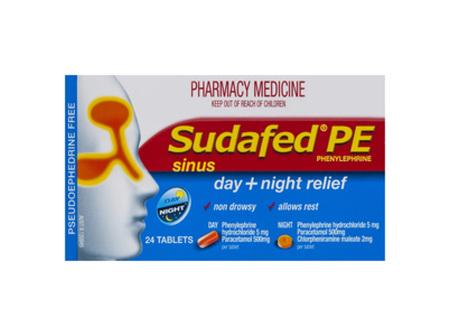 Sudafed Pe Sinus Treatment Day/Night 24