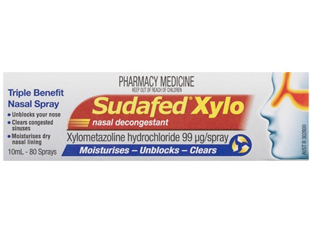 Sudafed Xylo Nasal Decongestant Spray 10mL