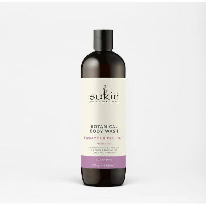 SUKIN Body Wash Bergamot & Patchouli 500ml