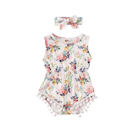 Summer Posies Romper with Headband