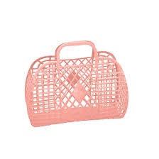 Sun Jellies Retro Basket Peach Large