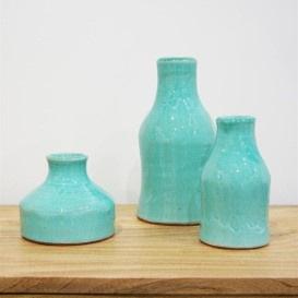Sunny Ceramic Vase - Turquoise 30cmh