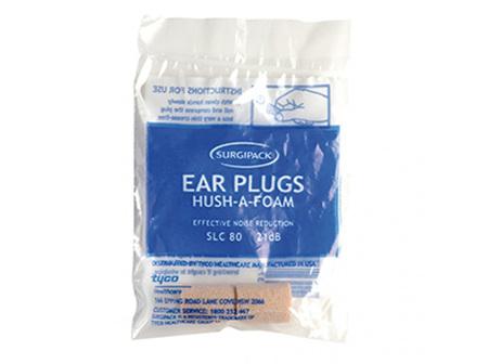 SurgiPack Hush-A-Foam Ear Plugs 1 Pair