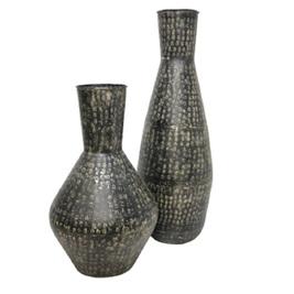 Surya Metal Vase - Black Wash 84cm 1852382c527b8