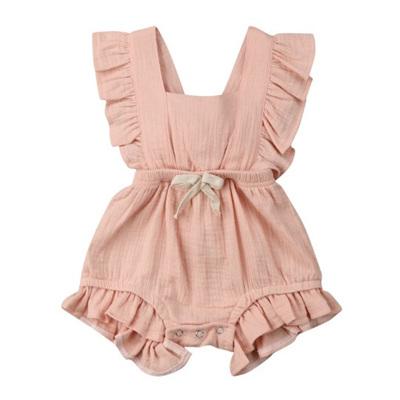 Sweetie Muslin Jump Suit - Peach