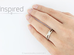Swete 18kt white gold princess cut diamond modern diamond ring