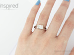 Swing Platinum Princess cut modern diamond ring