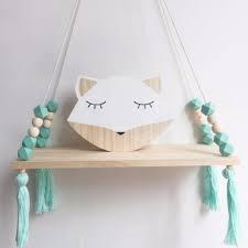 Swing Tassel Shelf - Turquoise