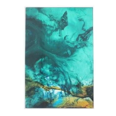 Swirl Gloss Canvas Print - White Frame 80 x 120cmh