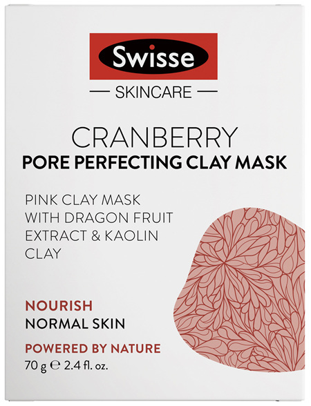 Swisse Cranberry Pore Perfecting Clay Mask 70g
