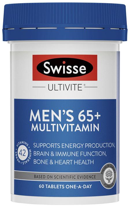 Swisse Mens 65+ Ultivite Multivitamin 60 Tablets